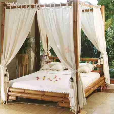 Кровать бамбуковая 2,2м x 1,9м №2