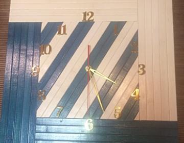 Бамбуковые часы 40х40 ЛБ