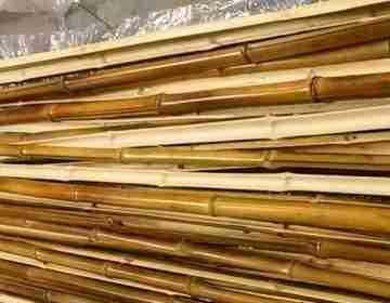 Половинка бамбука обожжен . d 15-18мм L=2,8-3м