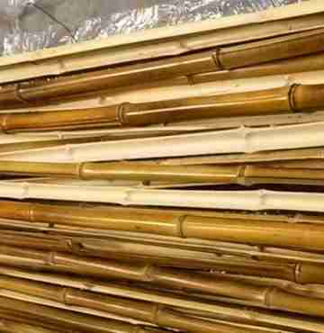 Половинка бамбука обожжен. d 20-30мм L=2,8-3м