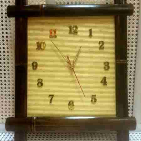 Бамбуковые часы 40х40 Н3ШК