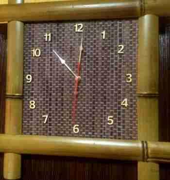 Бамбуковые часы 40х40 1105ЖД