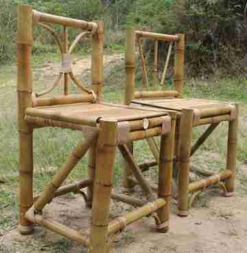 Стул из бамбука