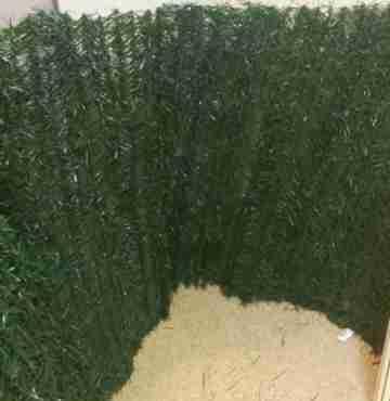 Искусственная изгородь Хвоя, лист 2мм, 1 х3 м