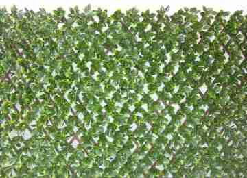 Искусственная изгородь лист Фотинии на деревянной решетке MZ192006A,1 х 2 м