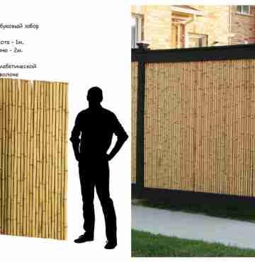 Бамбуковые ограждения  200см х 600см