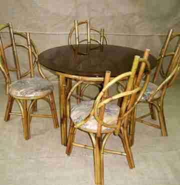 Мебель бамбуковая комплект столовый-1