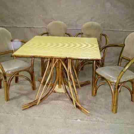 Мебель бамбуковая комплект столовый-2