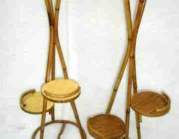 Цветочница из бамбука №1