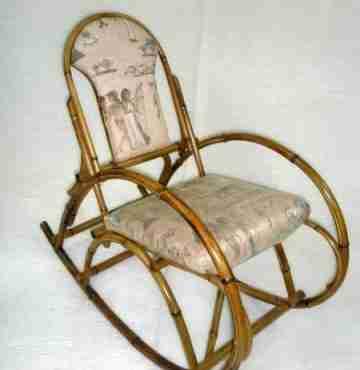 Кресло - качалка из бамбука