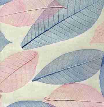Натуральные обои COSCA Листья Прима Азуль