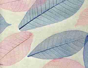 Натуральные обои Листья Прима Азуль