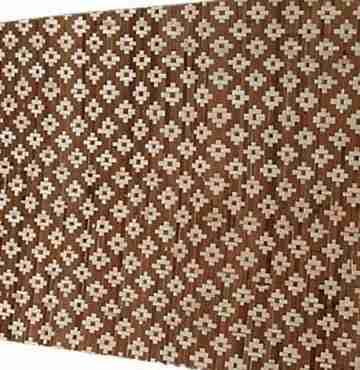 Плита бамбуковая Цветы светлые на коричневом 1,2х2,4м HDT 2сл.