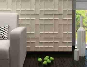 Бамбуковые 3D панели Tetris