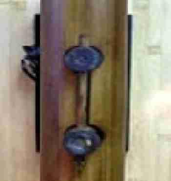 Светильник настенный 104119 Ширина: 12,70 см Длина: 17,78 см Высота: 39,37 см